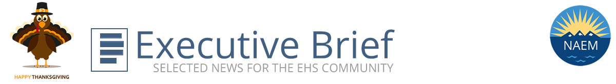 NAEM Executive Brief, Selected News for the EHS Community